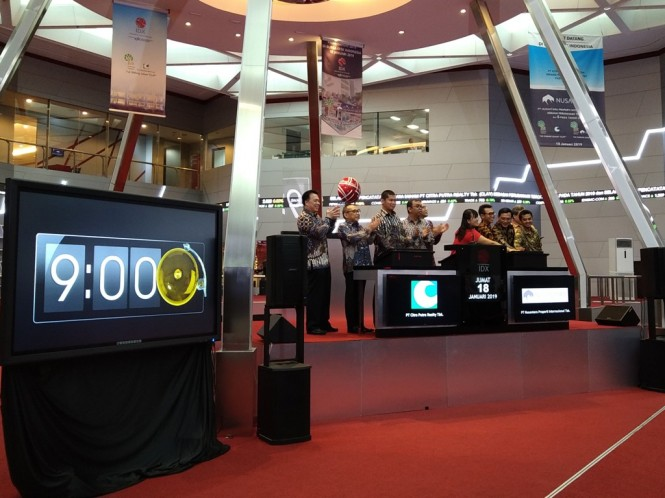 Suasana saat dua perusahaan jasa perhotelan melakukan IPO (Foto: Medcom.id/Ilham Wibowo)
