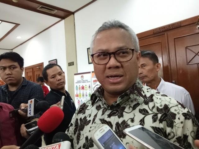 Ketua Komisi Pemilihan Umum (KPU) Arief Budiman--Medcom.id/Siti Yona Hukmana