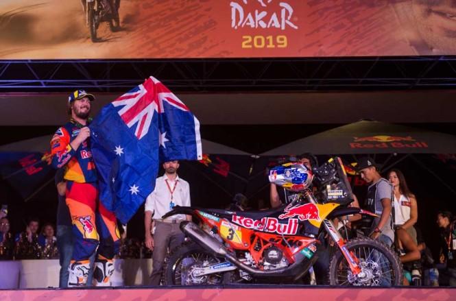 Toby Price meraih kemenangan di Dakar Rally 2019. RedBull