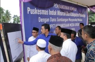 Media Group Bangun Puskesmas di Pidie Jaya