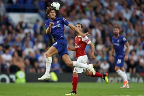 Suasana Arsenal v Chelsea. (Foto: AFP/Daniel Leal-Olivas)