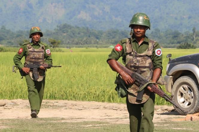Tentara Myanmar. (Foto: AFP)