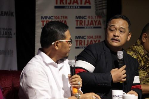 Direktur Kampanye TKN Benny Rhamdani (kanan) - MI/Pius Erlangga.