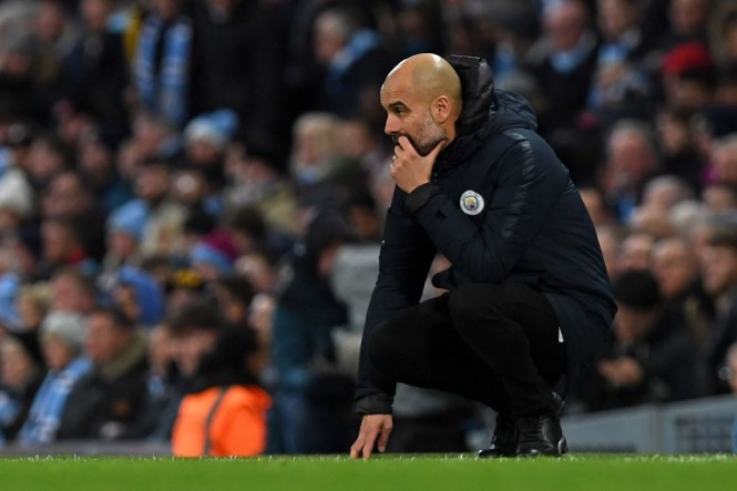 Pelatih Manchester City, Pep Guardiola (AFP/Paul Ellis)
