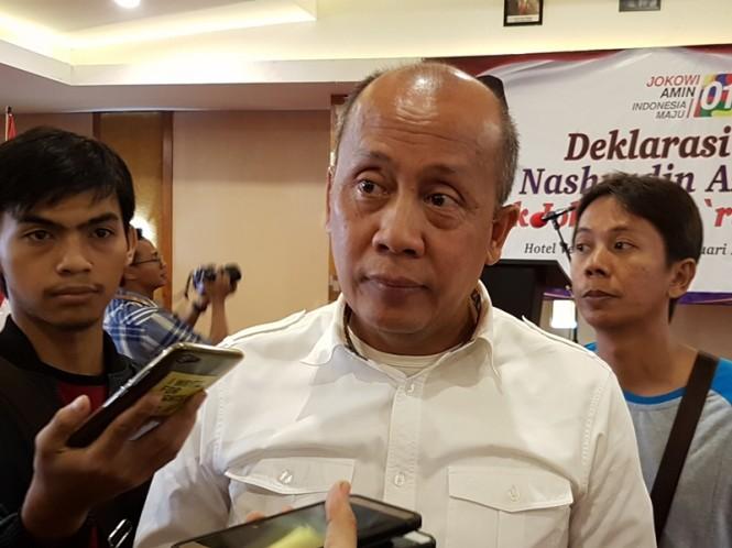 Ketua Badan Pemenangan Jokowi-Ma'ruf Amin Provinsi Jawa Barat, Saan Mustofa. Medcom.id/Ahmad Rofahan