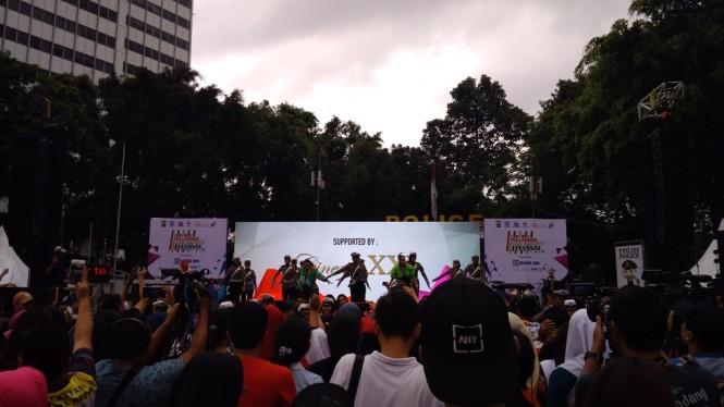 Acara Milenial Road Safety Festival di Bundaran HI, Jakarta Pusat - Medcom.id/
