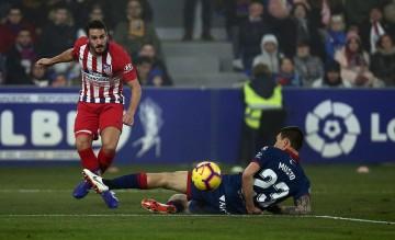 Proses gol Atletico Madrid yang dicetak Koke ke gawang Huesca