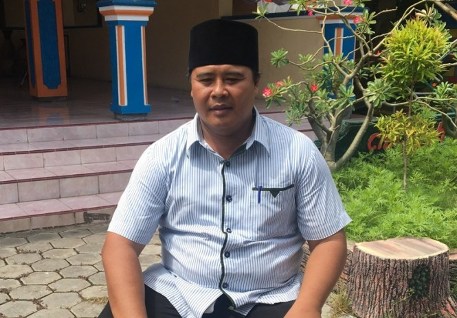 Kepala Desa Kedungdalem, Sumartono, Kecamatan Dringu, Kabupaten Probolinggo, Jawa Timur, Minggu, 20 Januari 2019. (Medcom.id/Amal).