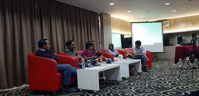 Perludem menggelar diskusi soal evaluasi debat perdana Pilpres 2019/Medcom.id/Whisnu Mardiansyah