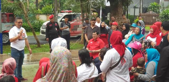 Sekjen PDI Perjuangan hasto Kristiyanto di Jaktim/Medcom.id/Cindy