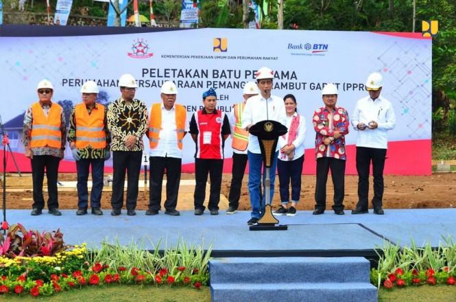 Peletakan Batu Pertama Pembangunan Perumahan PPRG di Garut, Jawa Barat, Dok; BTN.
