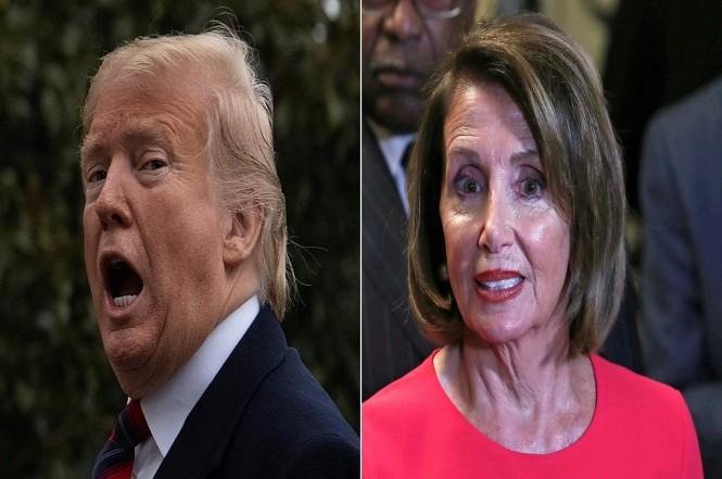 Presiden AS Donald Trump (kiri) dan Ketua DPR AS Nancy Pelosi. (Foto: AFP/JIM WATSON/ALEX EDELMAN)