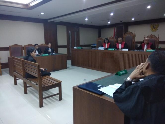 Sidang terhadap mantan Hakim Pengadilan Tipikor Medan Merry Purba. Foto: Medcom.id/Fachri Audhia Hafiez.