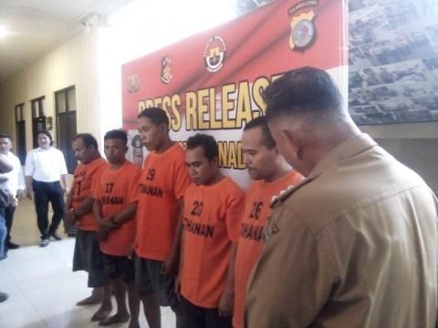 Lima Perampok Rumah Camat Mapanget Manado Ditangkap