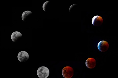 Melihat Fenomena Langka Gerhana Bulan Darah Serigala