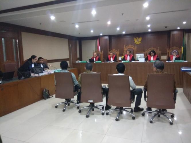 Sidang pemeriksaan saksi dengan terdakwa mantan petinggi Lippo Group Eddy Sindoro. Foto: Medcom.id/Fachri Audhia Hafiez.