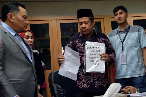 Keluarga Korban Lion Air PK-LQP Mengadu ke Pimpinan DPR