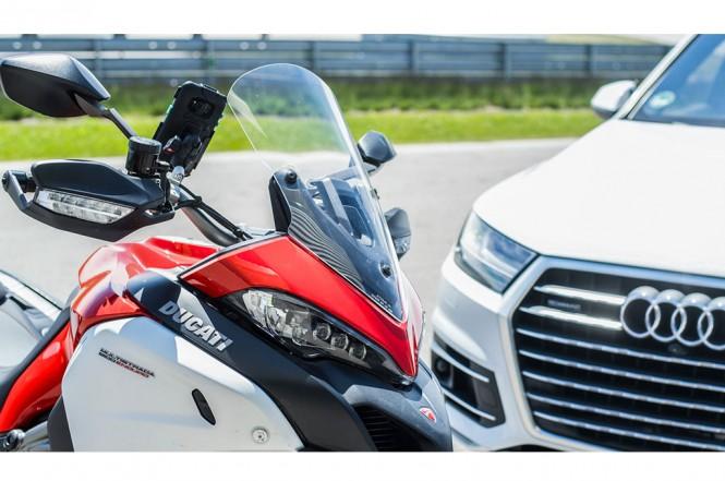 Ducati dan Audi berkerjasama mengembangkan teknologi C-V2X. Ducati