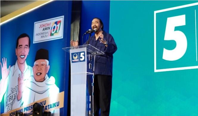 etua Umum Partai NasDem Surya Paloh. MI/Putra Ananda