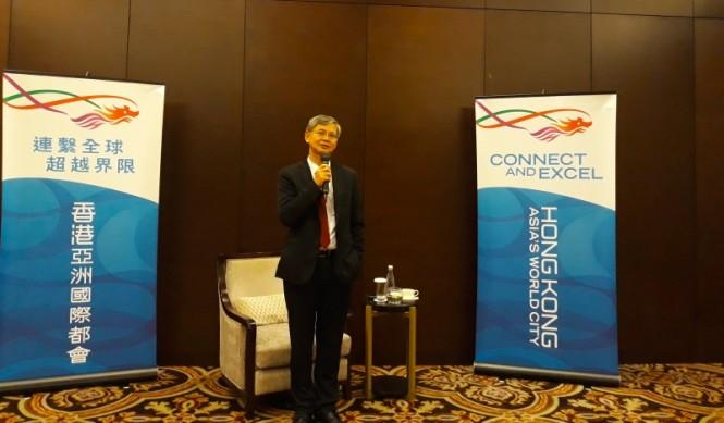 Sekretaris Tenaga Kerja dan Kesejahteraan Hong Kong Law Chi-kwong. (Foto: Marcheilla Ariesta/Medcom.id).