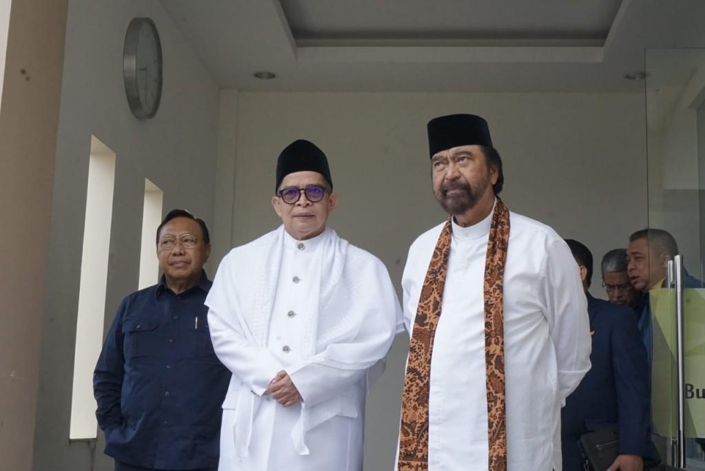 Ketua Umum Partai NasDem Surya Paloh (kanan). Foto: MI/Putra Ananda.