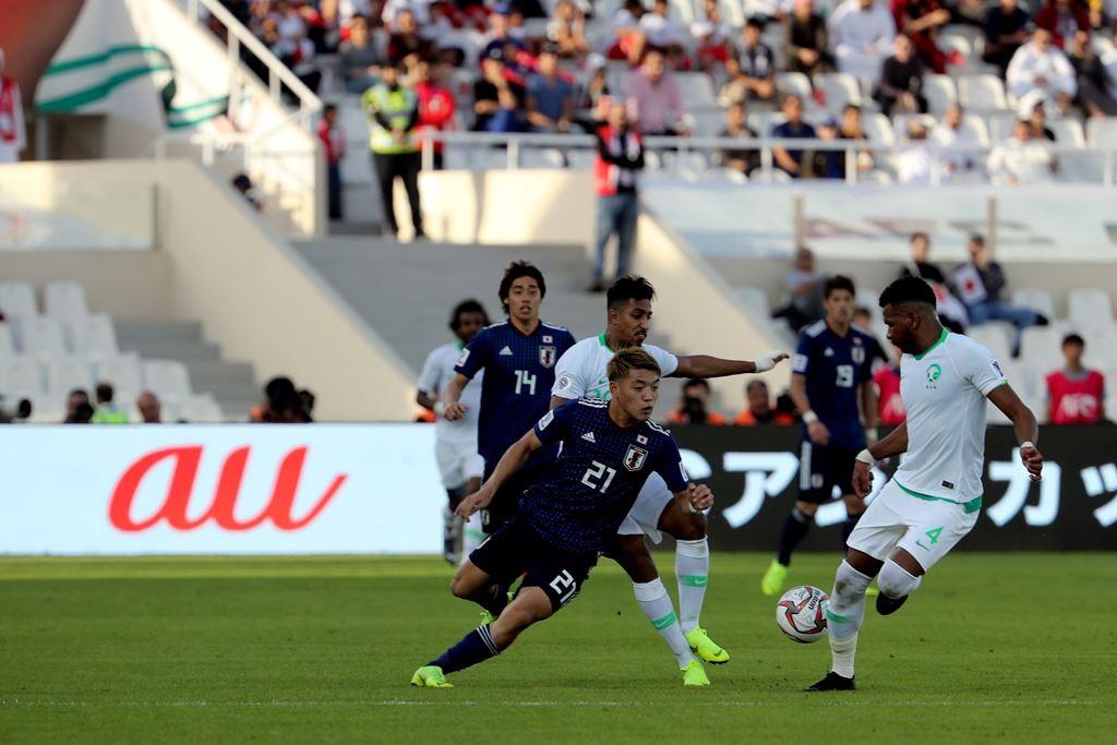 Suasana pertandingan Jepang vs Arab Saudi (AFP/Karim Sahib)