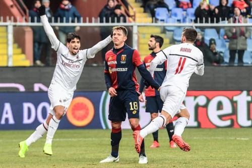Suasana pertandingan Genoa vs AC Milan (AFP/Miguel Medina)
