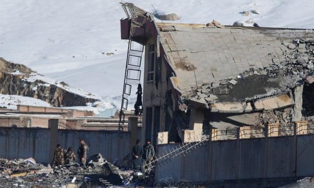 Area yang dibom oleh Taliban. (Foto: EPA)