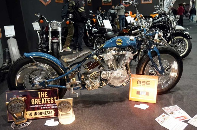 Suryanation Motorland buka kategori custom bike contest sendiri di ajang Motor Bike Expo, Italia. SM