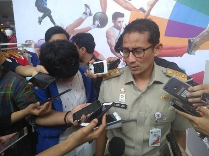 Sandiaga saat menjabat wagub DKI/Medcom.id/Damar Iradat