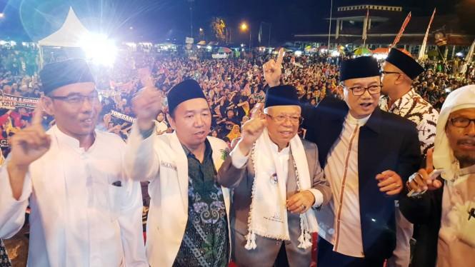 Calon wakil presiden nomor urut 01 Ma'ruf Amin di Ngawi - foto: istimewa.