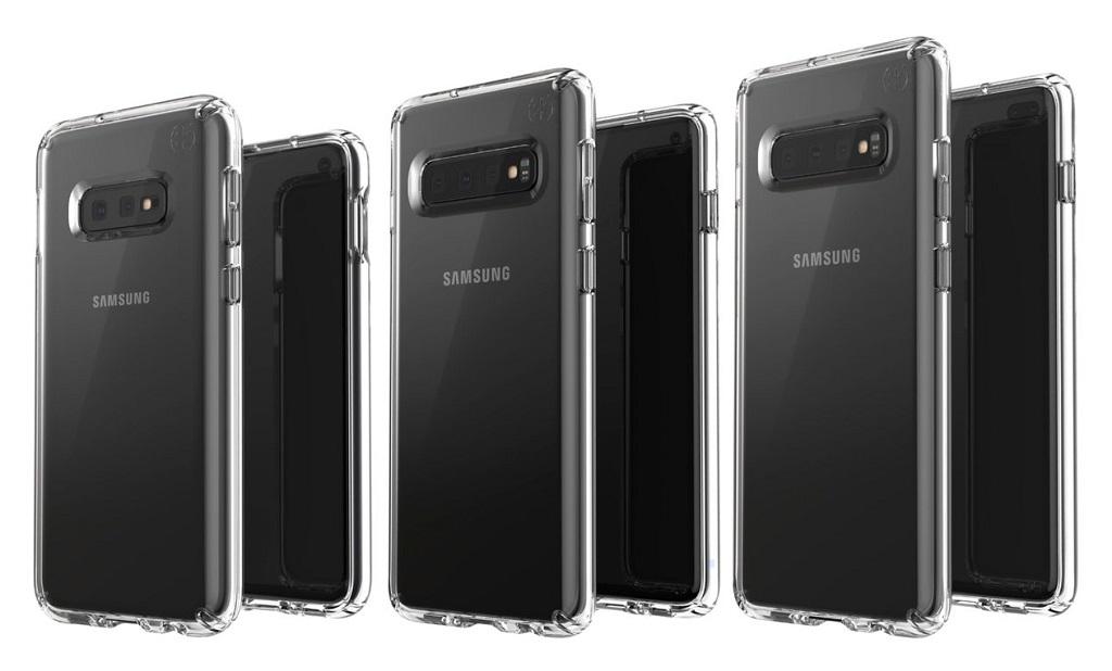 Bocoran gambar dari tiga varian Galaxy S10. (Twitter / Evan Blass)