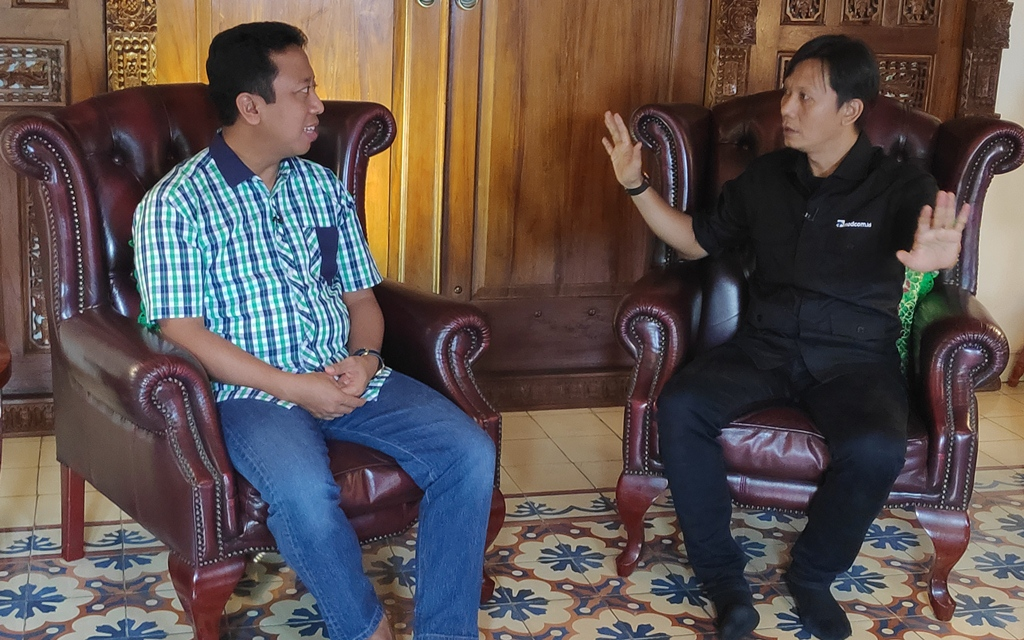 Ketua Umum PPP Romahurmuziy (kiri). Foto: Medcom.id/Adin