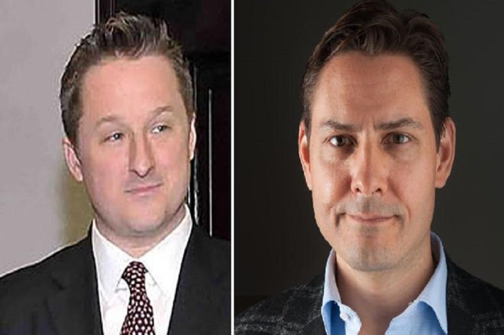 Michael Spavor (kiri) dan Michael Kovrig. (Foto: AFP)