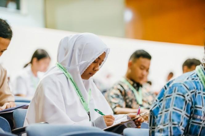 Sejumlah siswa mengikuti Olimpiade Bahasa Jerman Tingkat Nasional yang diselenggarakan Goethe-Institut.  Dokumentasi Goethe Institut.