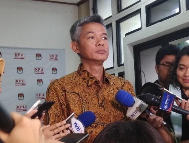 Komisioner KPU Wahyu Setiawan. Foto:Medcom.id/Fachri.