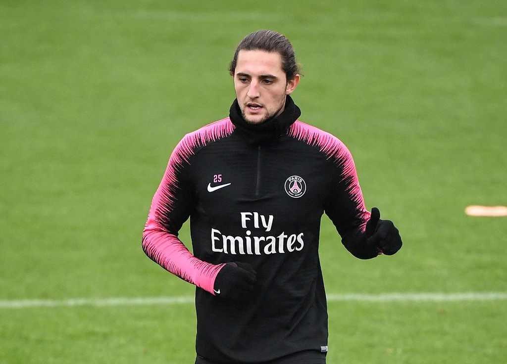 Gelandang PSG, Adrien Rabiot (AFP/Franck Fife)
