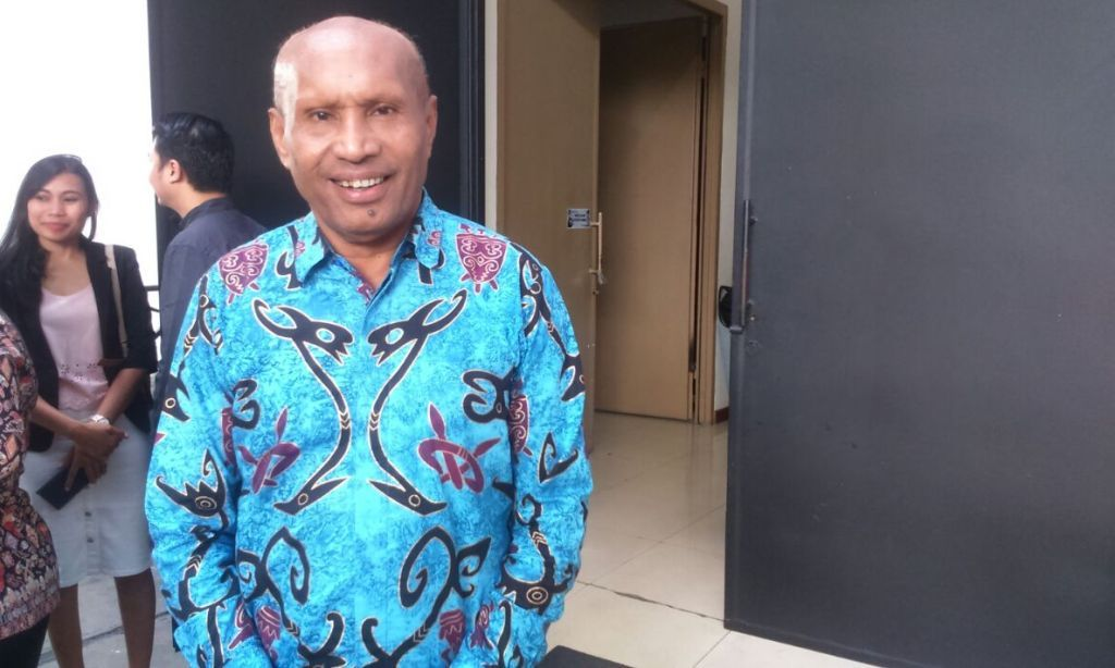 Ketua Umum Persipura, Benhur Tomi Mano (Foto: medcom.id/Rendy Renuki)