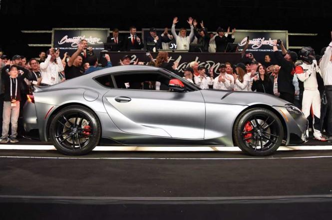 Toyota GR Supra 2020 terjual dengan harga fantastis di lelang amal Barrett-Jackson. Carscoops