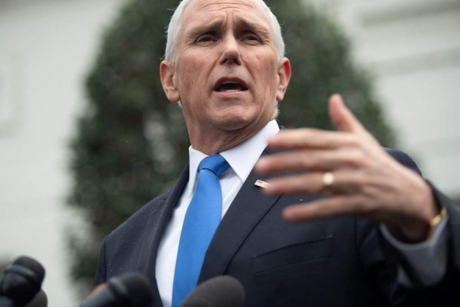 Wakil Presiden AS Mike Pence. (Foto: AFP)