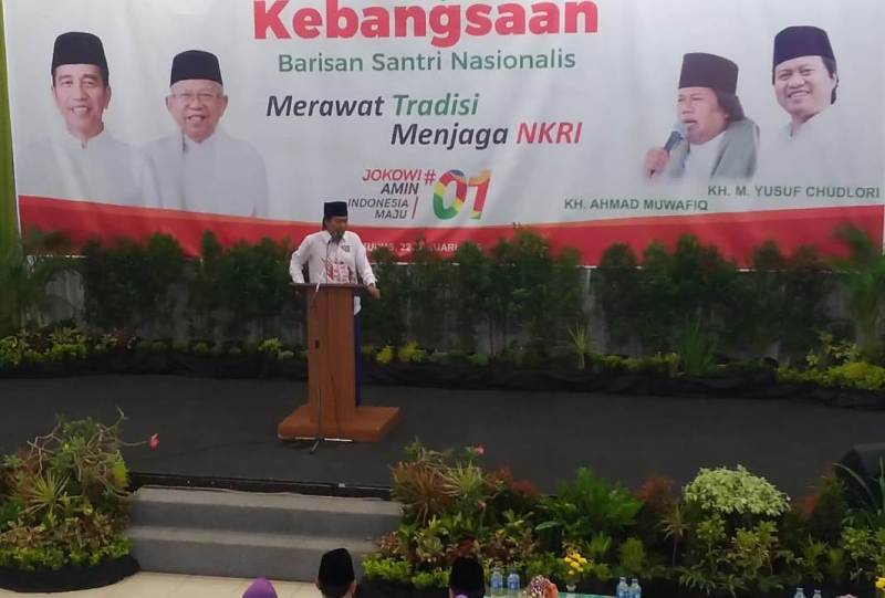 Deklarasi dukungan Barisan Santri Nasional kepada pasangan Capres Joko Widodo – Ma'ruf Amin di Kudus, Jawa Tengah.
