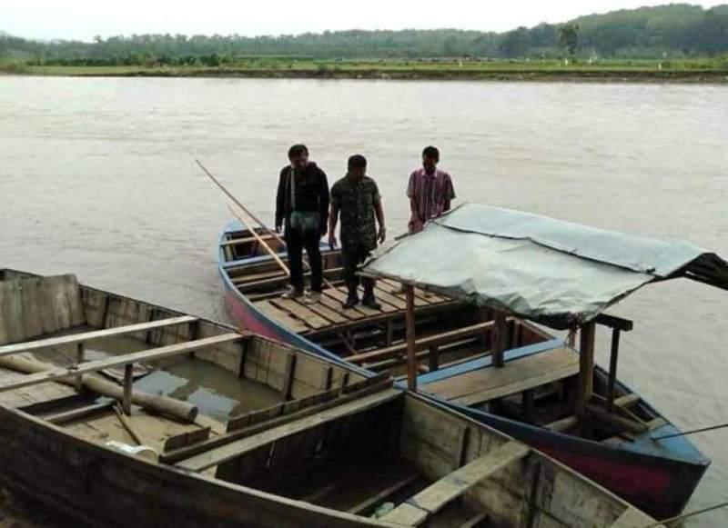Kondisi Sungai Pemali usai evakuasi korban perahu terbalik di Brebes, Jawa Tengah. (Medcom.id/Kuntoro Tayubi)