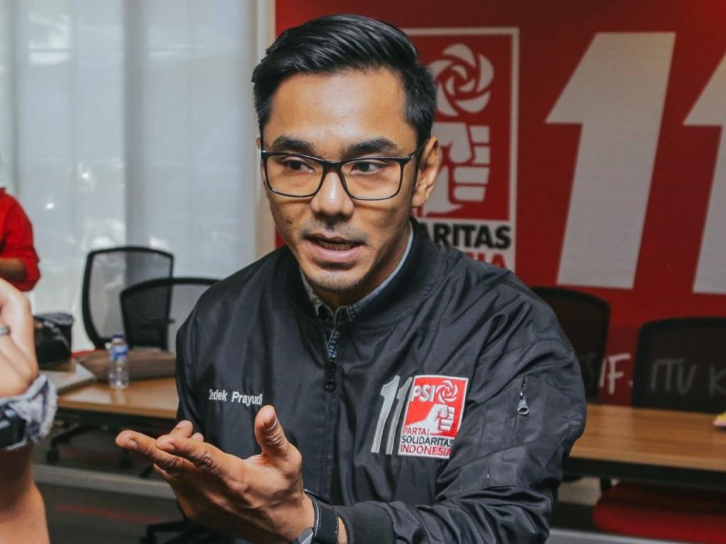 Juru bicara Partai Solidaritas Indonesia (PSI), Dedek Prayudi.