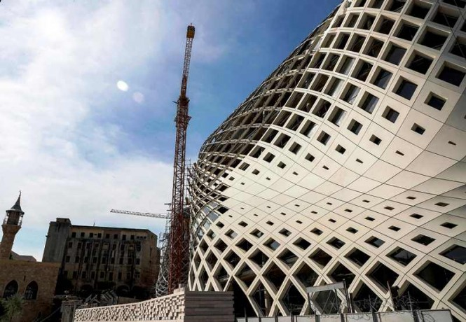 Pekerjaan pembangunannya diperkirakan memakan biaya hingga USD 40 juta. AFP Photo/Joseph Eid