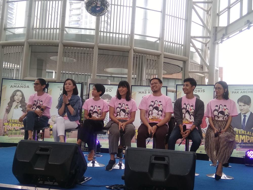 Jumpa pers film Terlalu Tampan di XXI Epicentrum, Jakarta, Rabu 23 Januari 2019. (Foto: Medcom.id/Cecylia Rura)