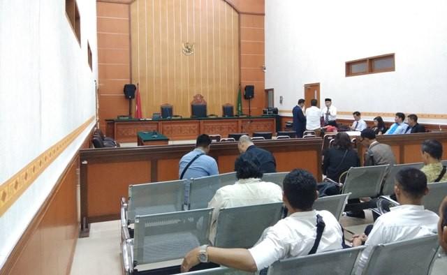 Suasana ruang sidang dengan terdakwa Hercules Rosario Marshal. Foto: Medcom.id/Fachri Audhia Hafiez.