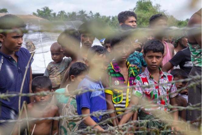 Anak-anak Rohingya yang tinggal di pengungsian di Bangladesh. (Foto: AFP).