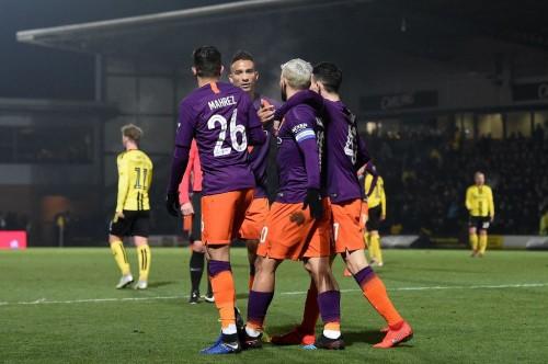 Skuat Manchester City kontra Burton Albion (AFP/Paul Ellis)