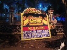 Karangan Bunga untuk Ahok Hiasi Mako Brimob