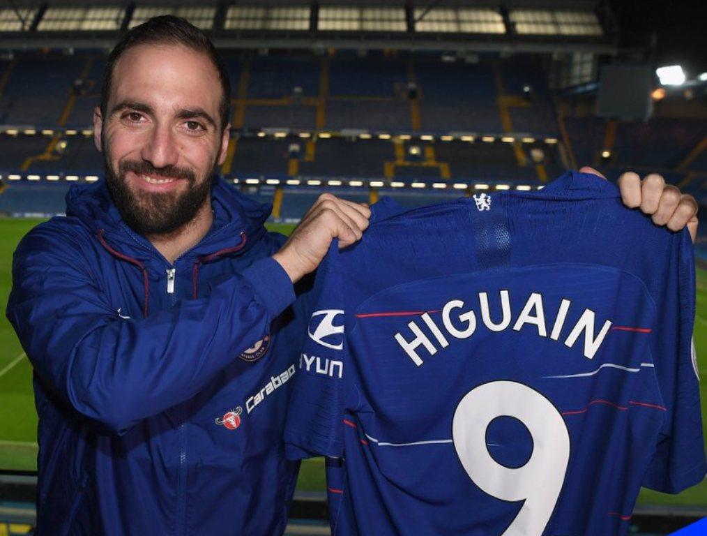 Gonzalo Higuain (Foto/ Twitter Chelsea)